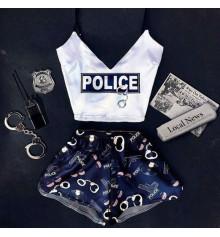 """Шёлковая пижама """"Police"""" купить в интернет магазине подарков ПраздникШоп"""
