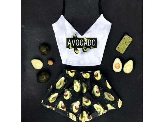 """Шовкова піжама """"Avocado"""" купить в интернет магазине подарков ПраздникШоп"""