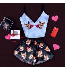 """Шёлковая пижама """"Fox"""" купить в интернет магазине подарков ПраздникШоп"""