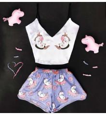 """Шёлковая пижама """"Unicorn"""" купить в интернет магазине подарков ПраздникШоп"""