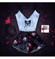 """Шёлковая пижама """"Catwoman"""" купить в интернет магазине подарков ПраздникШоп"""