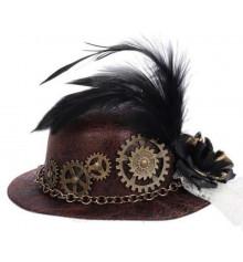 """Шляпка """"Стимпанк"""", на заколках купить в интернет магазине подарков ПраздникШоп"""