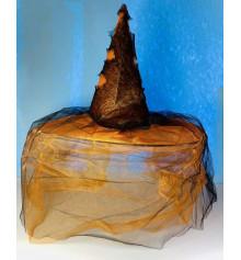 """Колпак """"Ведьма"""" с фатином, оранжевый купить в интернет магазине подарков ПраздникШоп"""