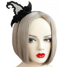 """Обруч на голову """"Колпак Ведьмы с розами"""" купить в интернет магазине подарков ПраздникШоп"""