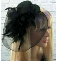 Шляпка с бутоньеркой и вуалью купить в интернет магазине подарков ПраздникШоп