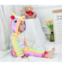 """Детская пижама-кигуруми """"""""Единорог радужный"""", 130 см купить в интернет магазине подарков ПраздникШоп"""