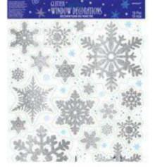 Наклейка на окно снежинки купить в интернет магазине подарков ПраздникШоп