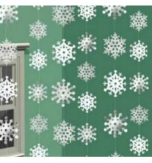 """Гирлянда """"Снежинки"""", вертикальная купить в интернет магазине подарков ПраздникШоп"""