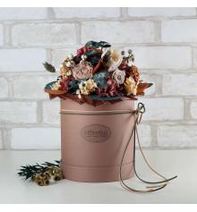 """Букет из стабилизированных цветов """"Гармония"""", 30х35 см. купить в интернет магазине подарков ПраздникШоп"""