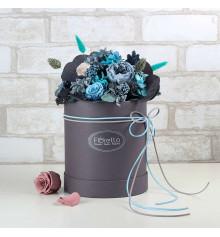 """Букет из стабилизированных цветов """"Стабильность"""", 20х25 см. купить в интернет магазине подарков ПраздникШоп"""