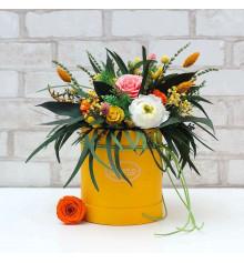 """Букет из стабилизированных цветов """"Весенний карнавал"""", 30х35 см. купить в интернет магазине подарков ПраздникШоп"""
