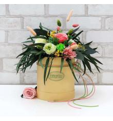 """Букет из стабилизированных цветов """"Цветущий сад"""", 20х25 см. купить в интернет магазине подарков ПраздникШоп"""