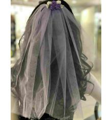 Фата для девичника, 45 см (фиолетовая) купить в интернет магазине подарков ПраздникШоп