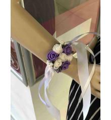 Бутоньерка на руку (фиолетовая) купить в интернет магазине подарков ПраздникШоп