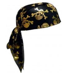 Пиратская бандана (золото) купить в интернет магазине подарков ПраздникШоп
