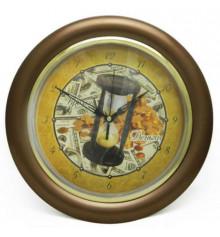 """Часы """"Время-деньги"""", коричневые купить в интернет магазине подарков ПраздникШоп"""