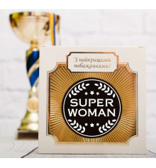 """Шоколадная медаль """"Super woman"""" купить в интернет магазине подарков ПраздникШоп"""
