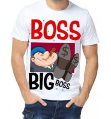 "Футболка з принтом чоловіча ""Boss"" купить в интернет магазине подарков ПраздникШоп"