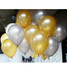 """Кулька з гелієм «металік Золото"""" 22/25 см купить в интернет магазине подарков ПраздникШоп"""