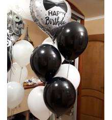 Гелієві кульки + Фольгірованние Зірки 18/45 см. купить в интернет магазине подарков ПраздникШоп