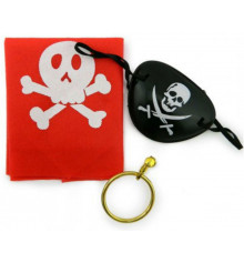 Набор Пирата (бондана, серьга, повязка на глаз) купить в интернет магазине подарков ПраздникШоп