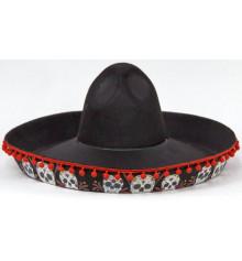 Шляпа Сомбреро с черепами купить в интернет магазине подарков ПраздникШоп