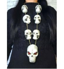 Прикраса на шию Хеллоуїн з черепом купить в интернет магазине подарков ПраздникШоп