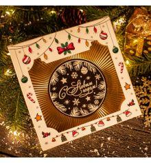 """Шоколадная медаль """"С Новым годом"""" купить в интернет магазине подарков ПраздникШоп"""