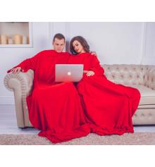 Плед з рукавами для двох з мікрофібри купить в интернет магазине подарков ПраздникШоп
