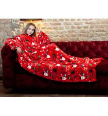 """Плед з рукавами з мікрофібри """"Санта"""" купить в интернет магазине подарков ПраздникШоп"""