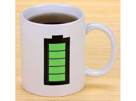 """Чашка """"Батарейка"""" - белая купить в интернет магазине подарков ПраздникШоп"""