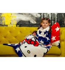 """Плед с рукавами из микрофибры """"Kitty"""" (детский) купить в интернет магазине подарков ПраздникШоп"""