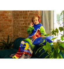 """Плед с рукавами из микрофибры """"Футбол"""" (детский) купить в интернет магазине подарков ПраздникШоп"""