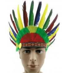 Шапка Индейца с перьями купить в интернет магазине подарков ПраздникШоп