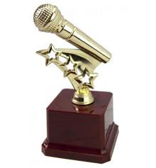 """Статуетка """"Золотий мікрофон"""" купить в интернет магазине подарков ПраздникШоп"""