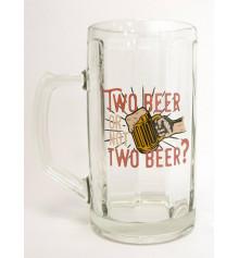 """Бокал для пива """"Two beer or not"""" купить в интернет магазине подарков ПраздникШоп"""