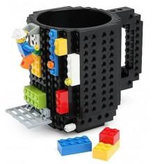 Кружка Лего конструктор (черная) купить в интернет магазине подарков ПраздникШоп