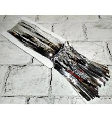 Шторка из фольги для фотозоны (серебро) купить в интернет магазине подарков ПраздникШоп