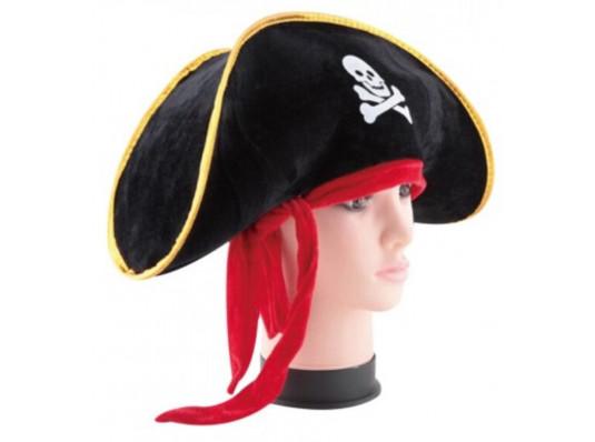 Шляпа Пирата с красной повязкой купить в интернет магазине подарков ПраздникШоп