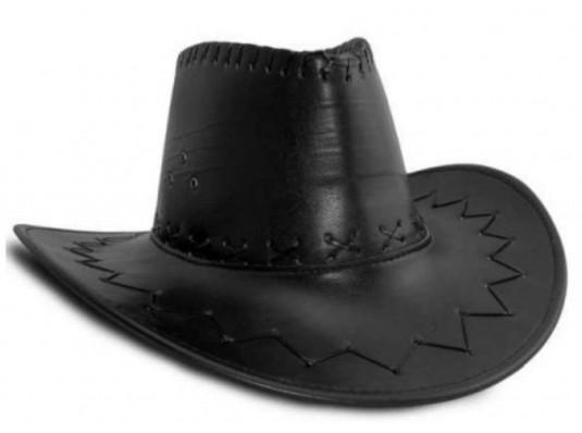 """Шляпа """"Ковбоя"""" (кожа,черная) купить в интернет магазине подарков ПраздникШоп"""
