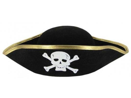 """Шляпа """"Пиратская треуголка"""" взрослая Шляпа """"Пиратская треуголка"""" взрослая купить в интернет магазине подарков ПраздникШоп"""