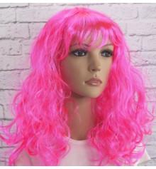 Парик волнистый, розовый купить в интернет магазине подарков ПраздникШоп