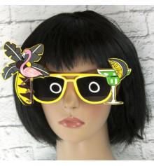 """Очки """"Коктейль гавайи"""" (желтые) купить в интернет магазине подарков ПраздникШоп"""