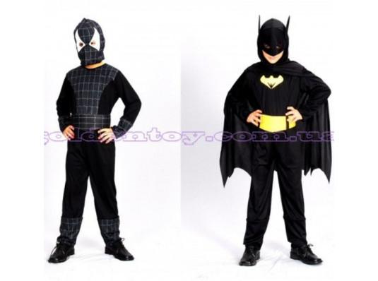 """Карнавальний костюм 2 в 1 """"Спайдермен / Бетмен"""" купить в интернет магазине подарков ПраздникШоп"""