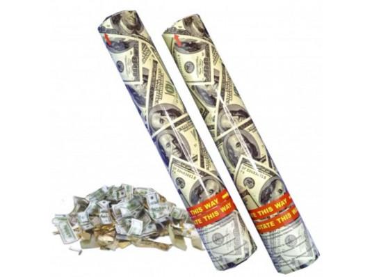 Хлопушка 40см с долларами купить в интернет магазине подарков ПраздникШоп