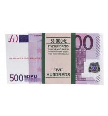 Пачка 500 ЕВРО подарочная купить в интернет магазине подарков ПраздникШоп