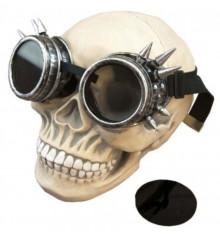 Очки Стимпанк Гогглы с шипами (серебро) купить в интернет магазине подарков ПраздникШоп