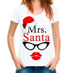 "Футболка з принтом жіноча ""Mrs.Santa"" купить в интернет магазине подарков ПраздникШоп"
