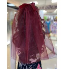 Фата для дівич-вечора, 45 см (бордо) купить в интернет магазине подарков ПраздникШоп