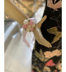 Бутоньерка на руку (розовая) купить в интернет магазине подарков ПраздникШоп